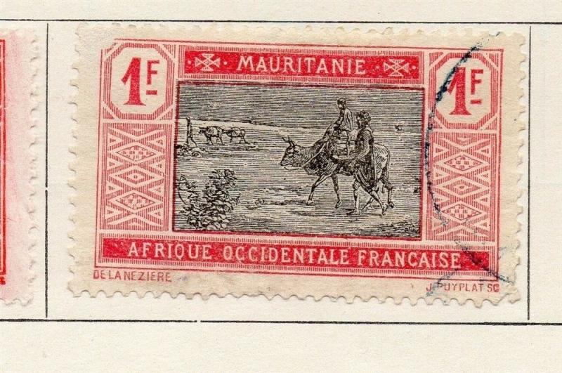 Mauritania 1928-30 Early Issue Fine Mint Hinged 1F. 181713