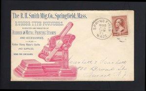 MASSACHUSETTS: Springfield 1885 #210 Smith RUBBER & METAL PRINTING STAMP