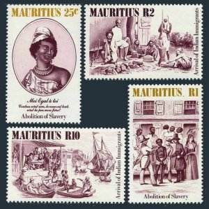 Mauritius MNH 596-9 Arrival Indian Immigrants Slaves 1984
