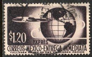 MEXICO E19, $1.20Pesos 1950 Definitive 2nd Printing wmk 300. USED. F-VF. (1477)