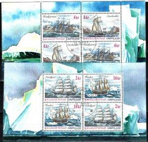Greenland #399a, 400a F-VF Used CV $22.00 (X5515L)