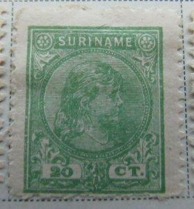 Surinam 1892-93 20c Fine MH* A13P9F939