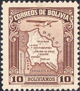 Bolivia  #C51 MH