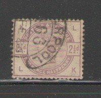 Great Britain Sc 101 1884 2 1/2d lilac Victoria stamp used