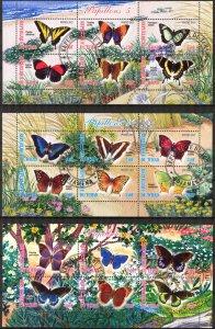 {g152} Chad 2012 Butterflies 3 sh. Used / CTO Cinderella