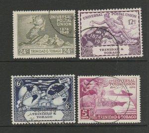 Trinidad & Tobago 1949 UPU FU SG 261/4