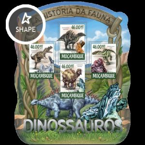 Mozambique MNH S/S Dinosaurs 2015