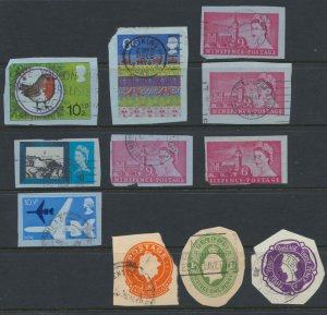 GB SG cut squares from airmail & pre paid   just in case anyone collects these
