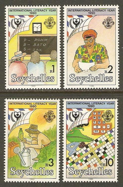 Seychelles #712-15 NH Int'l Literacy Year
