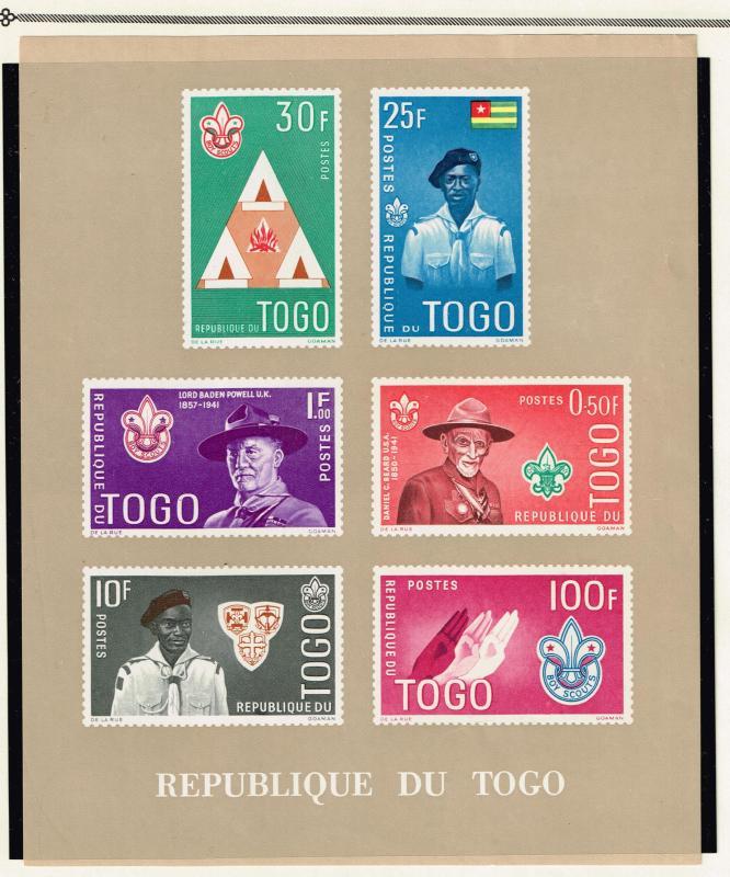 TOGO STAMP # 1961 Scout Movement MNH SHEET