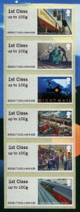 HERRICKSTAMP NEW ISSUE GREAT BRITAIN Royal Mail Heritage Mail by Rail P&G Pane