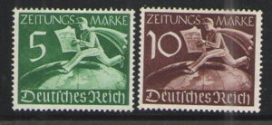 Germany - Third Reich 1939 Sc# P1-P2 MH VG - Newspaper stamps