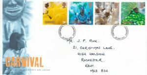GB 1998 Carnival FDC Medway and Maidstone Cancel with enclosure VGC