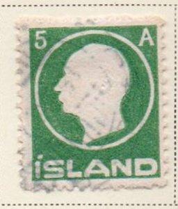 Iceland Sc 92 1912 5 aur Frederik VIII stamp used