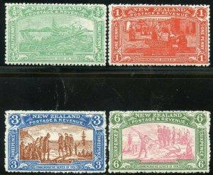 NEW ZEALAND  SCOTT #122/25  MINT HINGE REMNANT  SCOTT VALUE $335.00