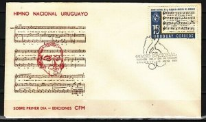 Uruguay, Scott cat. 795. National Anthem Composer. First day cover. ^