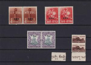 SOUTH WEST AFRICA WAR EFFORT  SWA OVERPRINT  MOUNTED MINT STAMPS PAIRS   R 2456