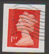 GB QE II Machin SG U2968d - 1st vermillion  - date code M14L - Source  S