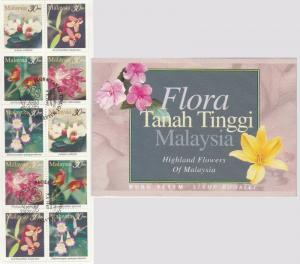 MALAYSIA 1997 HIGHLAND FLOWERS Stamp Booklet of 10V SG #SB7 Mint MNH MB1014 *