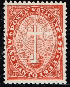 ITALY VATICAN CITY STAMP #B2 1933 The Holy Year SEMI POSTAL MH/OG STAMP