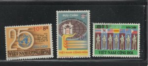 Vietnam (South)  #514-16 (1975 Surcharge set) VFMNH CV $58.00