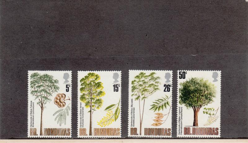 BRITISH HONDURAS 283-286 MINT 2014 SCOTT CATALOGUE VALUE $6.40