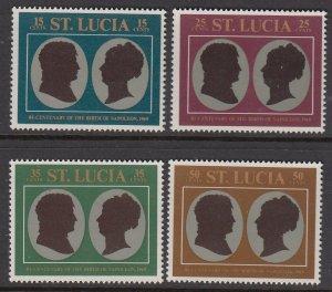 St Lucia 253-6 Bonaparte mnh