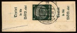 Germany Mi S184 President Hindenburg Zusammendruck Se-Tenant Multiple 64830