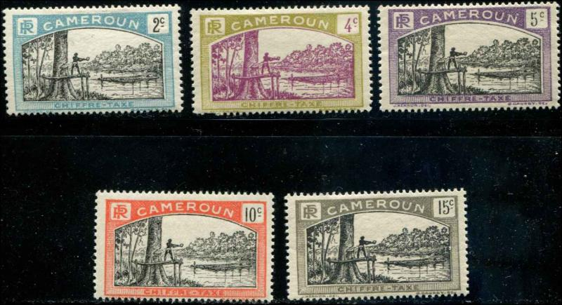 Cameroun SC# J1-5 Postage Due Felling Timber MH