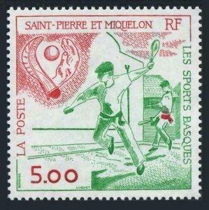 St Pierre & Miquelon 571,MNH.Michel 622. Basque Sports,1991.