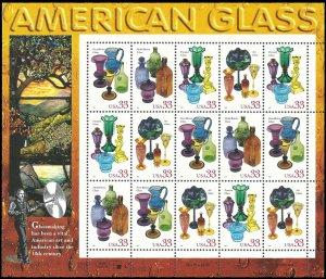 PCBstamps       US #3325/3328 Sheet $6.60(20x33c)American Glass, MNH, (5)