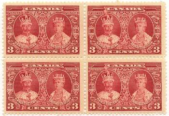 Canada - 1935 3c Jubilee Block of 4 mint #213 VF-NH