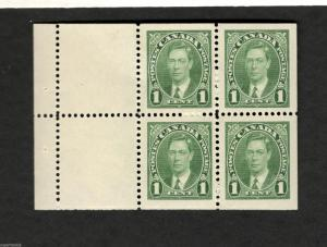 1937 Canada SC #231a  KING GEORGE VI MNH pane 4 stamps