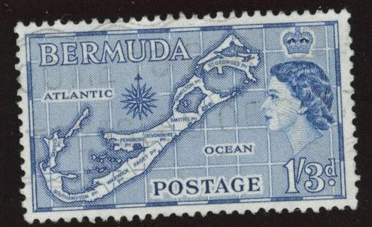 BERMUDA Scott 156  used  Sandy's variety from 1953-58 set