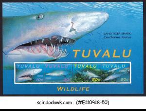 TUVALU - 2000  SAND TIGER SHARK / FISH MARINE LIFE - MIN. SHEET MNH