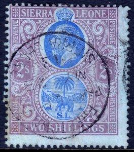 Sierra Leone - Scott #116 - Used - Appears CTO, Crease UR - SCV $6.25