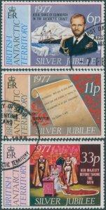 British Antarctic Territory 1977 SG83-85 QEII Silver Jubilee FU