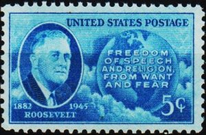 U.S.A. 1945 5c S.G.929 Unmounted Mint