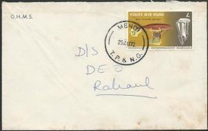 PAPUA NEW GUINEA 1972 cover ex MENDI.......................................47636