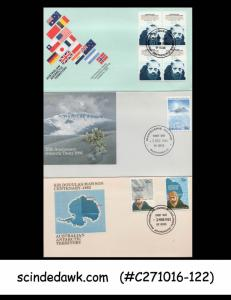 AUSTRALIAN ANTARTIC TERRITORY 1980-86 SELECTED FIRST DAY COVERS 6nos