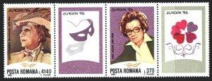 Romania. 1996. 5174-75. Bulandra-actress, Europe-sept. MNH.