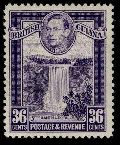 BRITISH GUIANA GVI SG313, 36c bright violet, M MINT. PERF 12½
