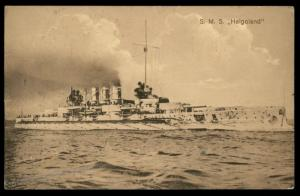 Germany 1916 WWI Navy SMS Helgoland MSP13 Feldpost Cover Marineschiffspost 88257