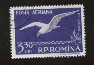 ROMANIA Scott C53 used CTO Favor Canceled Airmail 1957