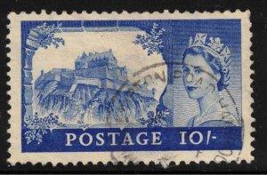 GREAT BRITIAN - QEII SG538 Edinburgh Castle 10/ Ultramarine