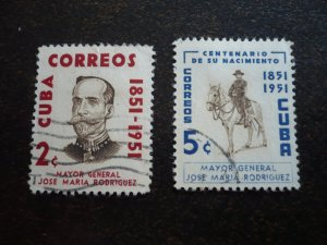 Stamps - Cuba - Scott# 529-530 - Used Set of 2 Stamps