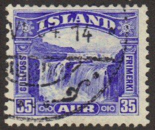 Iceland #172 used 35-aur waterfall
