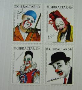 2002 Gibraltar  SC #901-04 CLOWNS MUSIC  MNH stamp set
