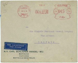 93708 -  DUTCH INDIES - POSTAL HISTORY - RED Mechanical postmark on COVER  1934