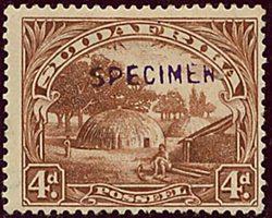 South Afr. - 1928 4 Pence English Single SPECIMEN Rare
